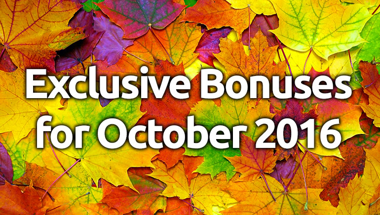 Claim These Exclusive Bonuses and Free Spins This October