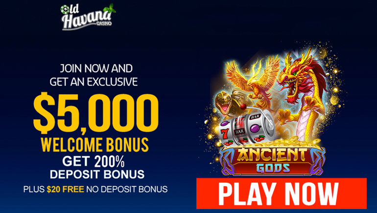 Exclusive $5,000 Welcome and $20 No Deposit at Old Havana Casino