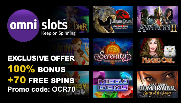 Get 70 Free Spins at Omni Slots Casino with OCR Exclusive