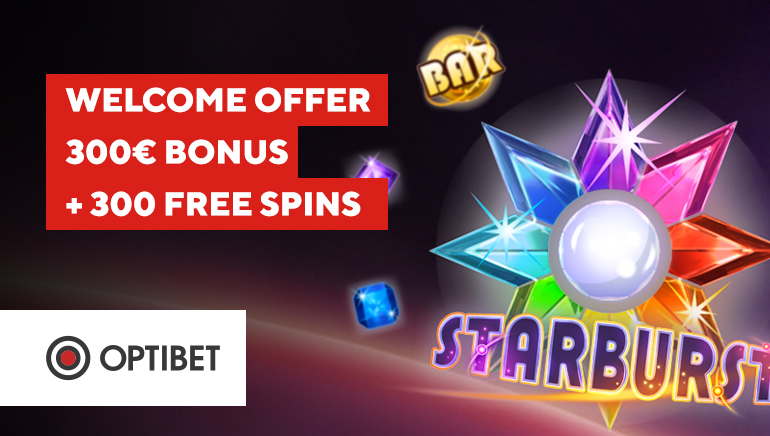 300€ and 300 Free Spins for a Welcome at Optibet Casino