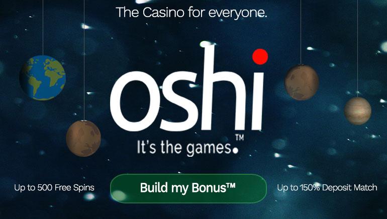 Build Your Own Bonus with Oshi Casino Unique Feature
