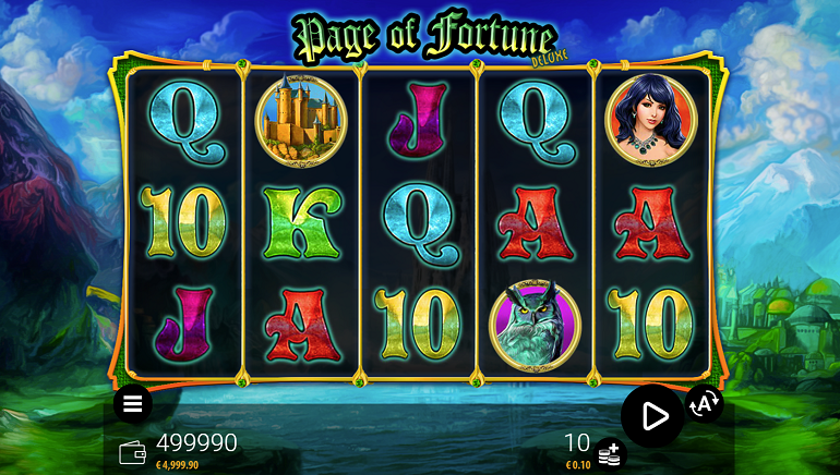 Zeus Play Releases Page of Fortune Deluxe Slot