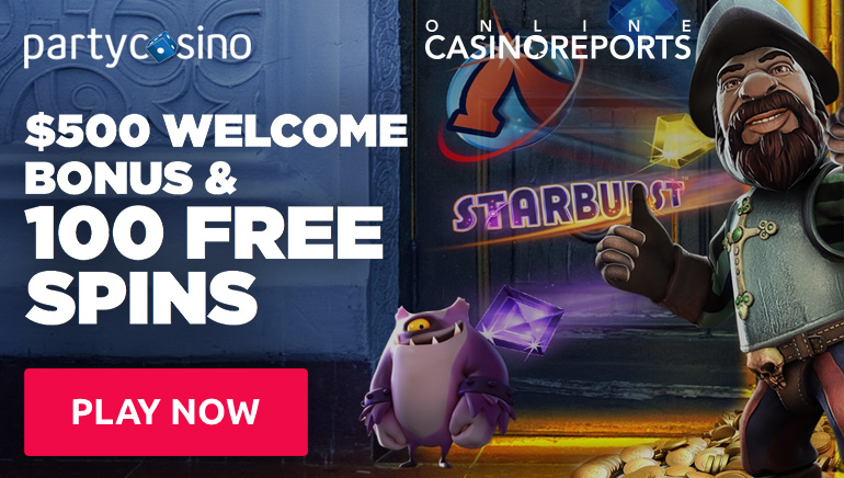 Get the Party Started: $500 Bonus & 100 Free Spins at Party Casino