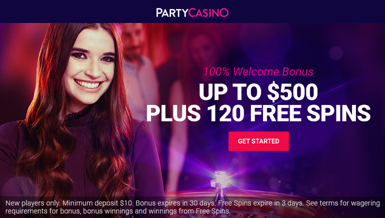 Get this Party Started with $500 Welcome at Party Casino