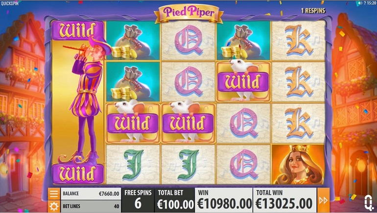 New Pied Piper Slot by Quickspin Releases Today