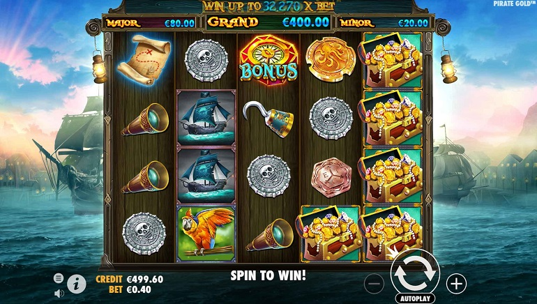 Take To The High Seas With Pirate Gold Slot From Pragmatic Play