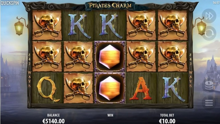 Pirate's Charm Slot is New to Quickspin Casinos