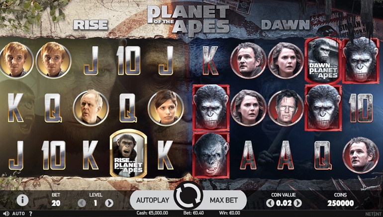 New Planet of the Apes Slot by NetEnt Debuting at Online Casinos Today