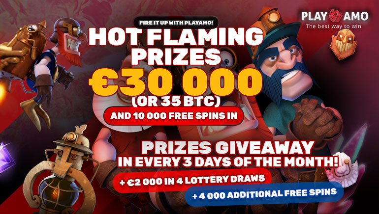 Play Slots and Win Big in the €30,000 Fiery Race at PlayAmo this February