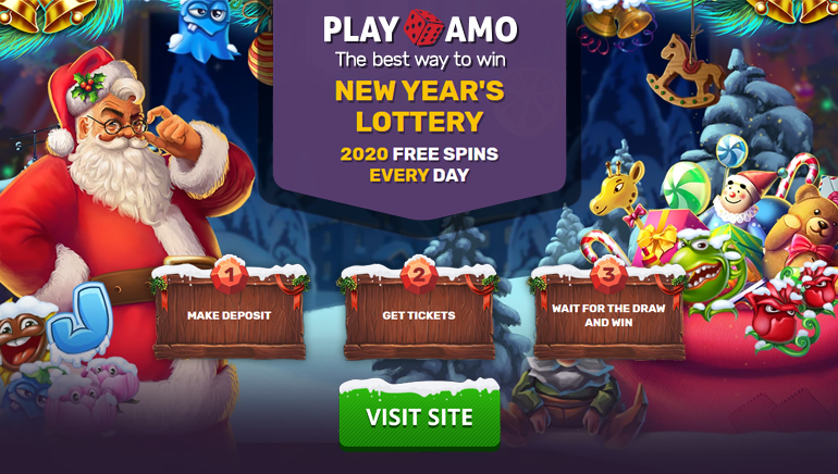 PlayAmo Casino Giving Away Free Spins Daily in New Year's Lottery