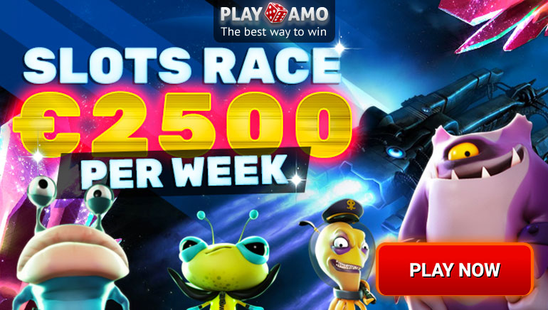 Win a Piece of €2500 in Playamo's Slots Race