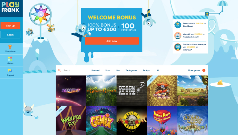 PlayFrank Casino Emerges with Brand New Design
