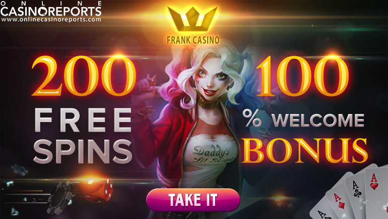 Get 200 Free Spins to Enjoy Frank Casino's Superb Gaming Offering