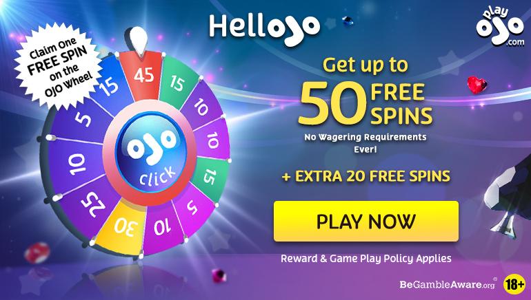PlayOJO Casino Awards 70 Free Spins to New Players