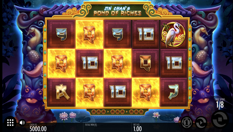 Thunderkick Releases Chinese-Themed Jin Chan's Pond Slot