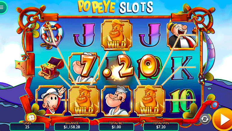Classic Cartoon Characters Hit Online Casinos In Vibra Gaming's Popeye Slots