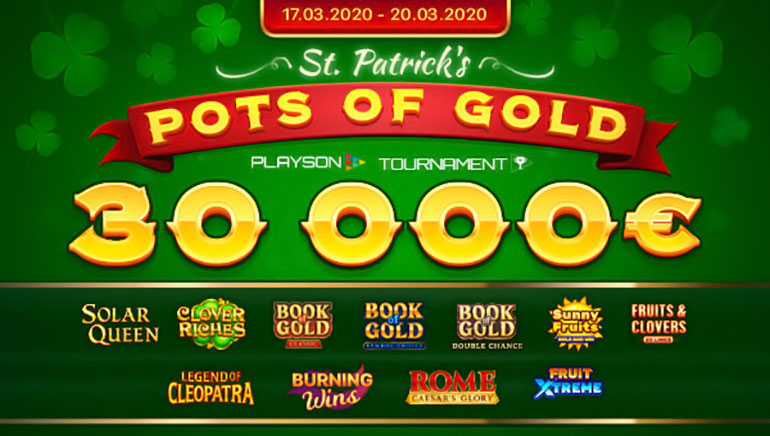 Playson Hosting €30k St Patrick's Day Tournament
