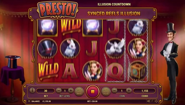 Experience Power of Illusion with New Presto! Slot by Habanero