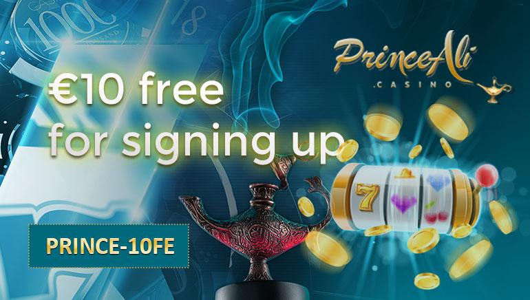 Grab Your €/$10 No Deposit Bonus at Prince Ali Casino