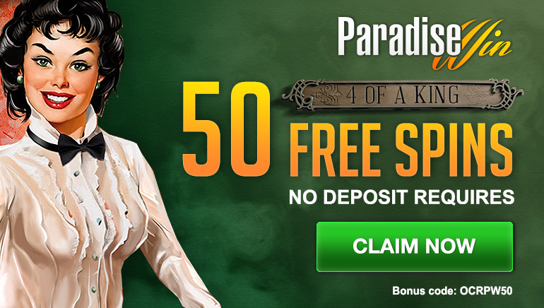 Claim 50 Exclusive No Deposit Free Spins at ParadiseWin