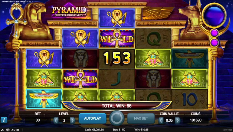 NetEnt's Pyramids Quest For Immortality Slot Launched
