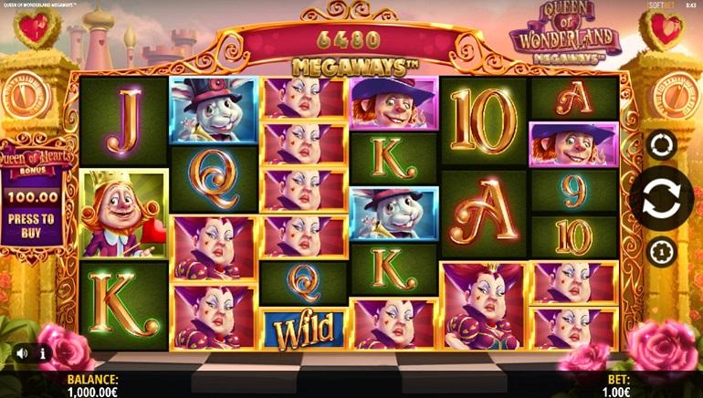iSoftBet Releases Wild New Slot - Queen of Wonderland Megaways