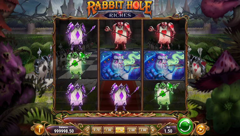 Play'N GO Releases Rabbit Hole Riches an Underground Adventure Slot