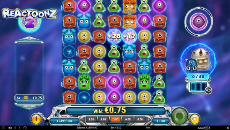 Aliens Invade Online Casinos In the Reactoonz 2 Slot From Play'n GO