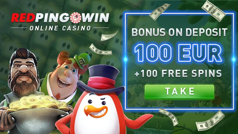 Bank on €100 and 100 Free Spins to Boot at Red Pingwin Casino