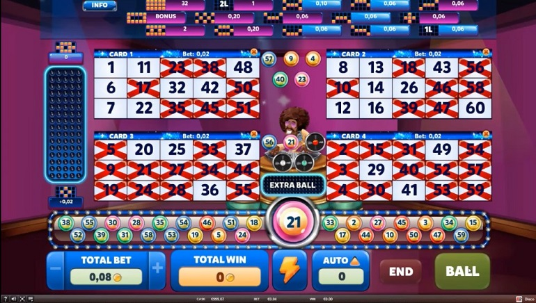Dance To Disco Nights Video Bingo From Red Rake Gaming