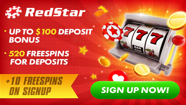 RedStar Casino Awarding 10 Free Spins in Exclusive Deal