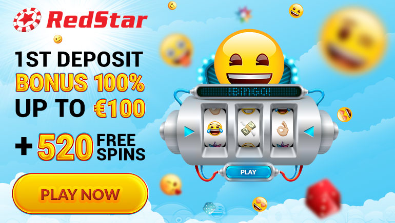 RedStar Casino Offering €100 Welcome Bonus & 520 Free Spins