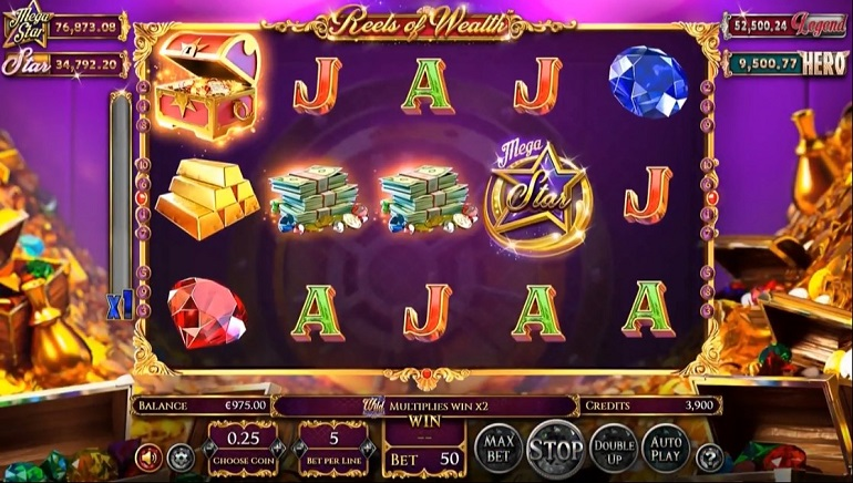 A Wealth Of Features in Betsoft's New Reels Of Wealth Slot
