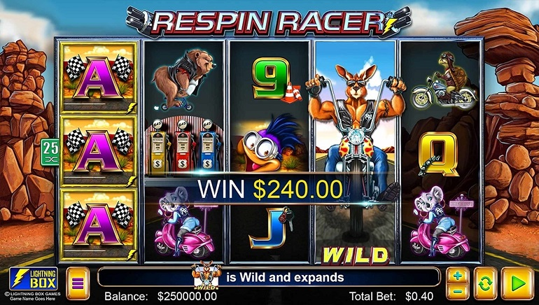 Respin Racer Slot Releases from Lightning Box