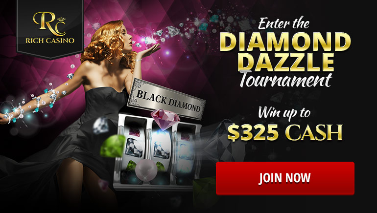 Rich Casino Offers Sparkling Riches in the Diamond Dazzle Tournament
