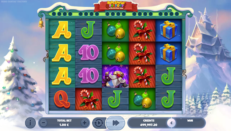 Robo Santa's Factory Slot Unwrapped by GAMING1