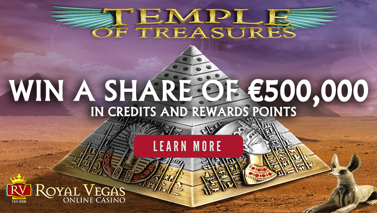 Win Loadsa Prizes in Royal Vegas' €500,000 Temple of Treasures Promotion