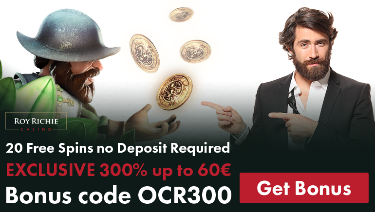 Get Started at Roy Richie with Exclusive 300% Bonus & 20 Free Spins
