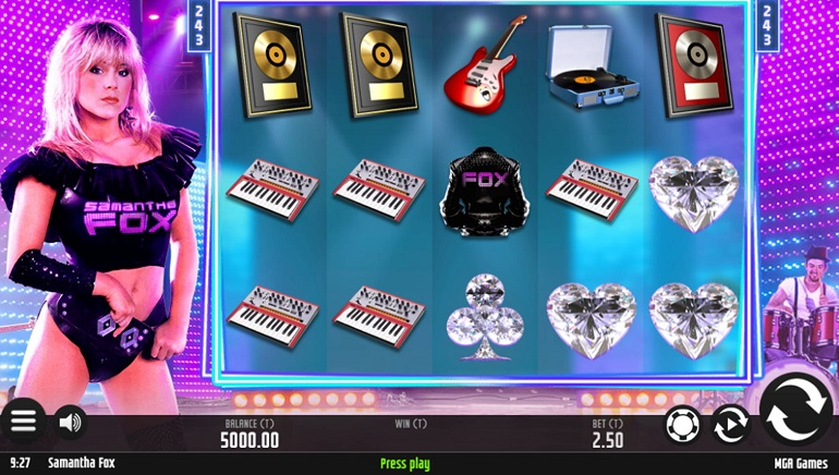 What Year Is It? Samantha Fox Stars In Her Own Online Slots Game From MGA