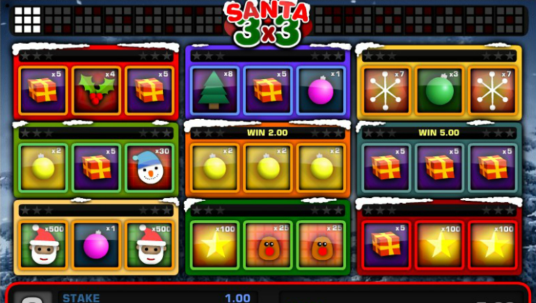 1x2gaming Launches Santa 3x3 Just in Time for Christmas