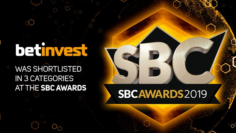 Betinvest Shortlisted in 3 Categories at SBC Awards 2019