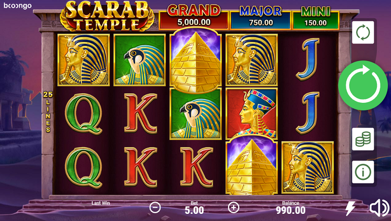Scarab Temple Slot From Booongo Takes Players On A Desert Adventure