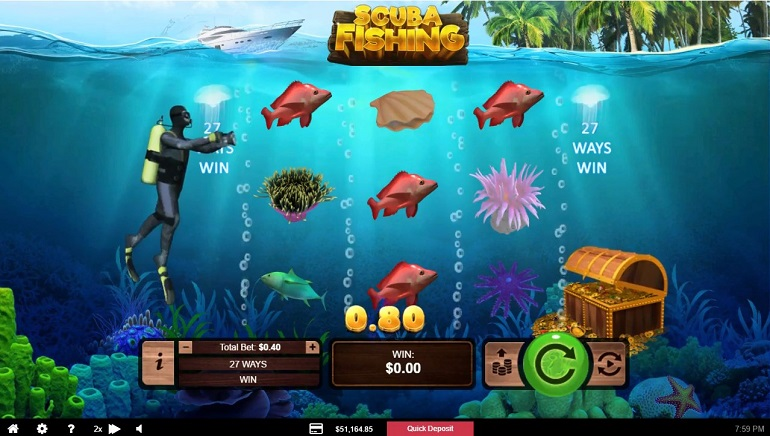 Scuba Fishing Slot Releases at RTG Asia Casinos