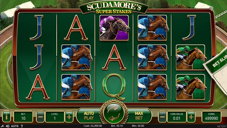 Scudamore's Super Stakes Slot Races Off at NetEnt Casinos