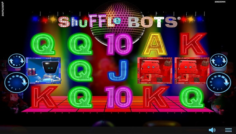 Disco Party with Robots in Realistic Games' Shuffle Bots Slot