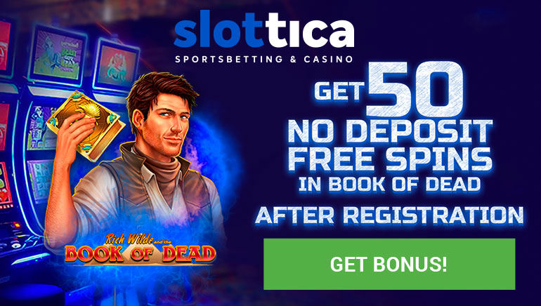 50 No Deposit Free Spins Waiting for New Players at Slottica Casino