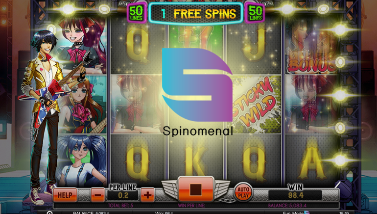Rock Out With Spinomenal's New Slot N' Roll