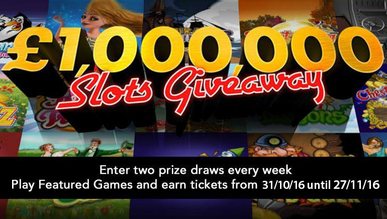 bet365 is Giving £/$1 Million in the Slots Giveaway this November