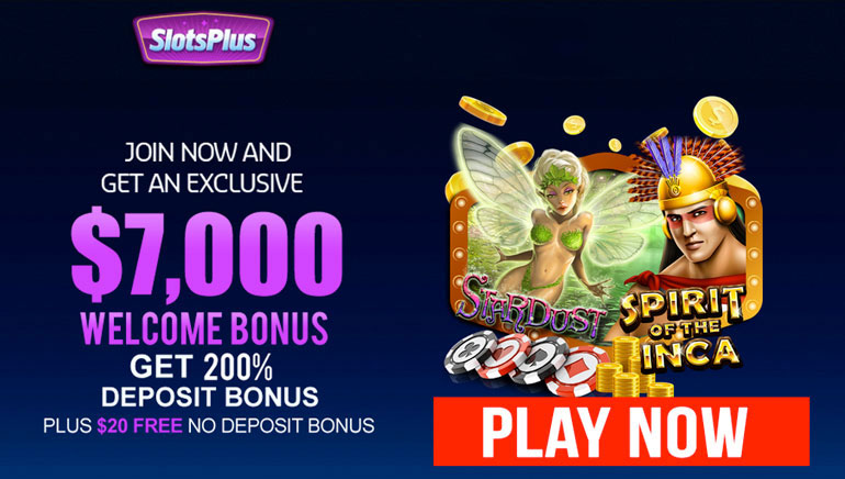 SlotsPlus Casino & OCR Team Up with Giant $7K Welcome Bonus Package