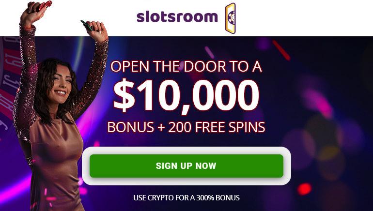 SlotsRoom Casino Offering $10k Welcome Bonus & 200 Free Spins